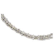 Art Deco Bracelet with Safety Chain