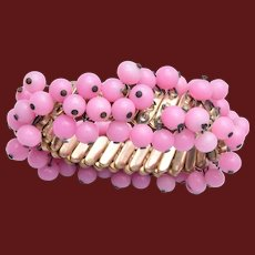 Pink Glass Cha Cha Expandable Bracelet