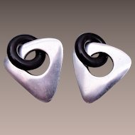 Modern Earrings with Unusual Clasp