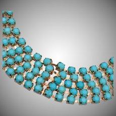 Turquise Rhinestone Necklace