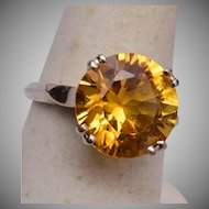 """14kt Gold and Topaz Ring Size 7-1/4"""""""