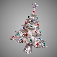Gerry's Silver Christmas Tree Brooch