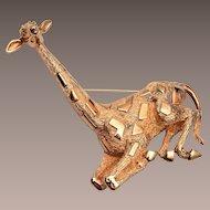 Nettie Rosenstein Sitting Giraffe Brooch