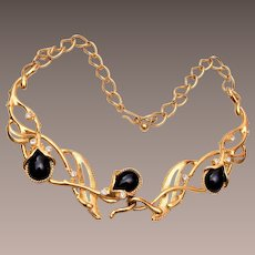 Barrera for Avon Black and Gold Necklace