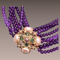 Elizabeth Taylor for Avon Forever Violet Necklace