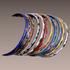 11 Colorful Enameled Bangle Bracelets