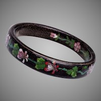 Old Chinese Cloisonné Enamel Bangle Bracelet