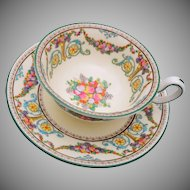 Wedgwood Hand Painted Fruit Tea Cup and Saucer