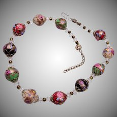 Colorful Wedding Cake Beaded Necklace