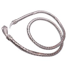 Whiting and Davis Silver Mesh Belt or Necklace