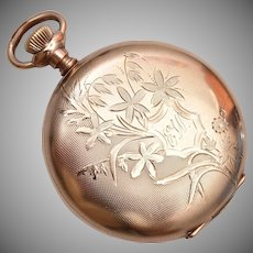 Eligin Gold Filled Pocket Watch - It Runs!