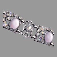 Selro Moonstone Rhinestone Bracelet