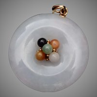 Mutton Fat Jade and 14kt Gold Pendant