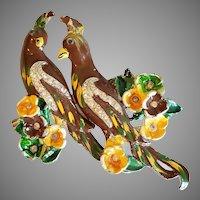 2 Bird Brooch Duette
