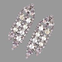 Kirk's Folly Dangling Rhinestone Earrings 1970's