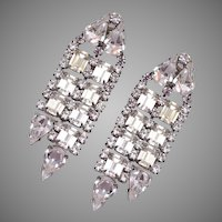 Kirk's Folly Dangling Rhinestone Earrings 1970's