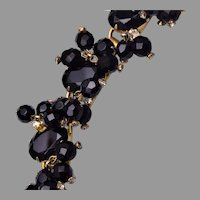 Juliana D&E Black Glass Cha Cha Bracelet