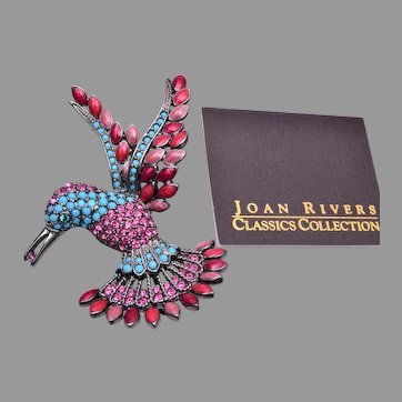 Joan Rivers Hummingbird Brooch