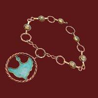 Vintage D.F. Betancourt Mid-Century Modern Mixed Metals Necklace