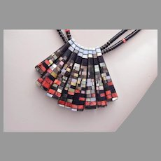 Reversible  Charlene Reano Santo Domingo (Kewa) Mosaic Necklace