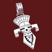Vintage Tommy Singer Navajo Dine Sterling Silver Kachina Pendant