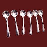Vintage England E.P.N.S. Silver Plated Salt Cellar Spoons