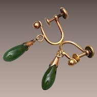 1/20th 12kt GF Jade Earrings