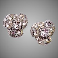 Bogoff Rhinestone Earrings