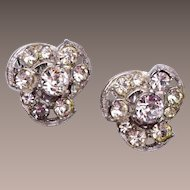 Bogoff Rhinestone Earrings