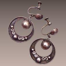 Silver Mexico Earrings