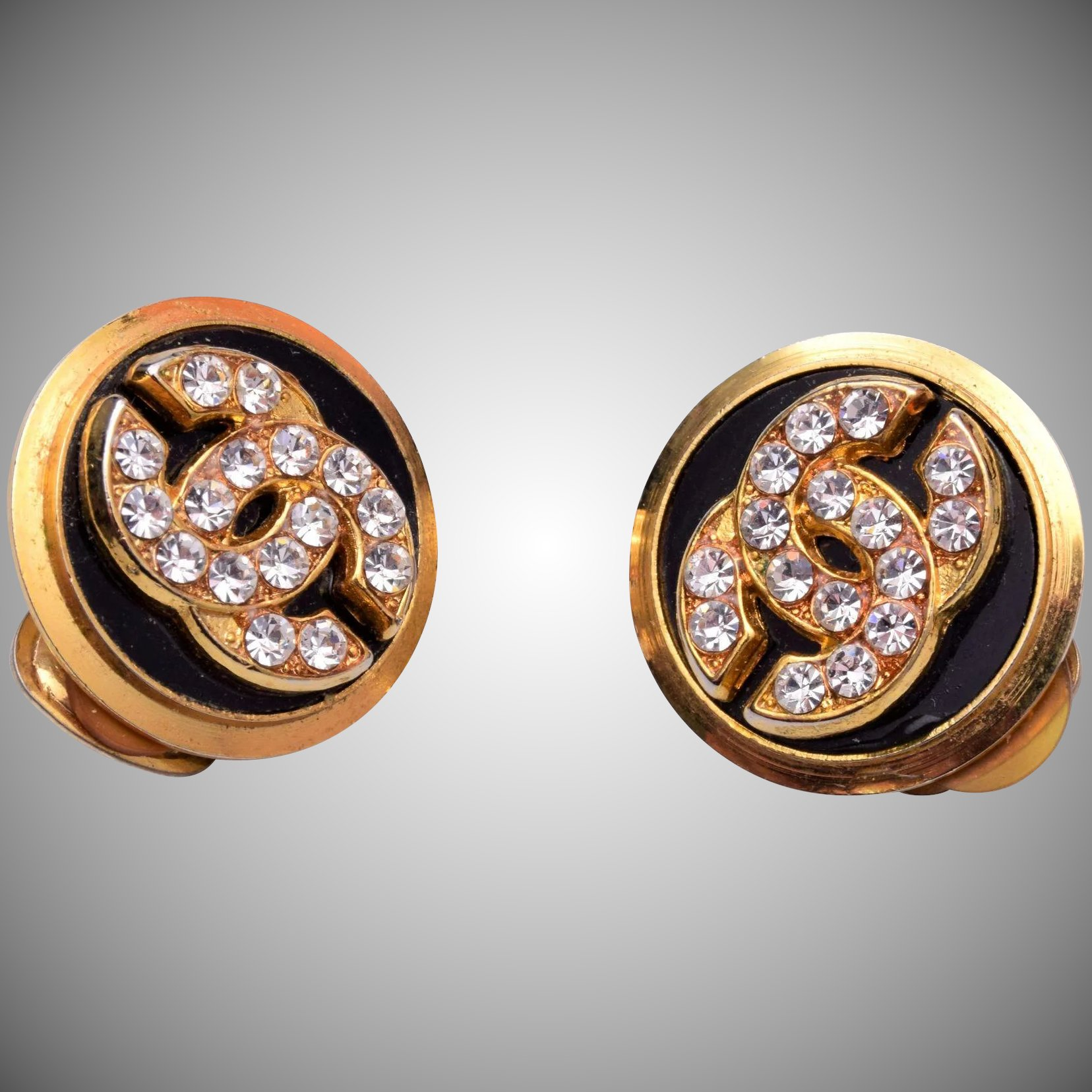Coco Chanel Rhinestone Earrings Click To Expand