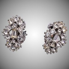 Bogoff Clear Rhinestone Earrings