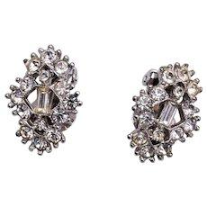 Bogoff Clear Rhinestone Earrings