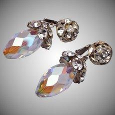 Vogue Dangling Crystal and Rhinestone Earrings