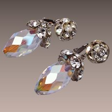 Vogue Dangling Crystal and Rhinestone Earrings