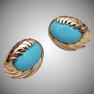 Trifari Turquoise Earrings