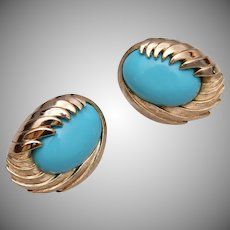 Trifari Turquoise Earrings