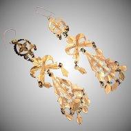 Gold filled Dangle Pierced Earrings