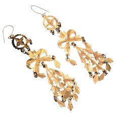 Gold filled Dangle Pierced Earrings