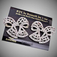 KJL Kenneth Jay Lane Bow Earrings
