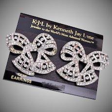 KJL Kenneth Jay Lane Bow Earrings