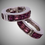 Purple Trifari Earrings