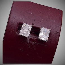 CZ Pierced Earrings