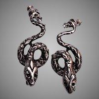 Pierced Snake Earrings