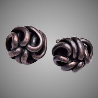 Sterling Knot Earrings