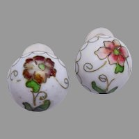 Cloisonne Pierced Earrings