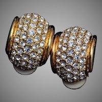 Swarovski Rhinestone Hoop Earrings