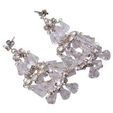 Hattie Carnegie Chandelier Crystal Earrings