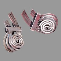 Rame' Silver Tone Earrings