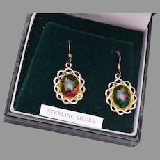 Heathergems Sterling Pierced Earrings in Original Box